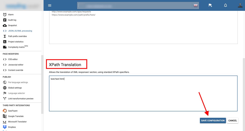 JSON XPath translation